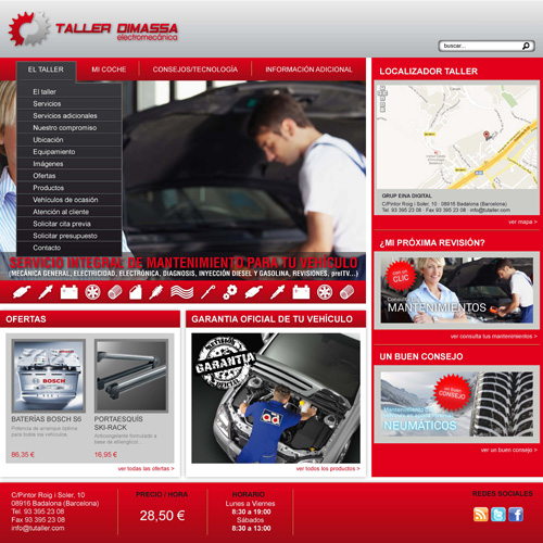 Templates for your garage website